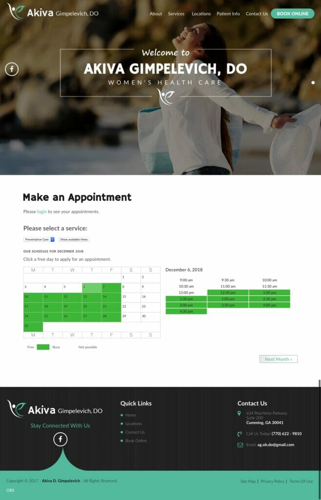 Doctor Akiva Online Booking Page