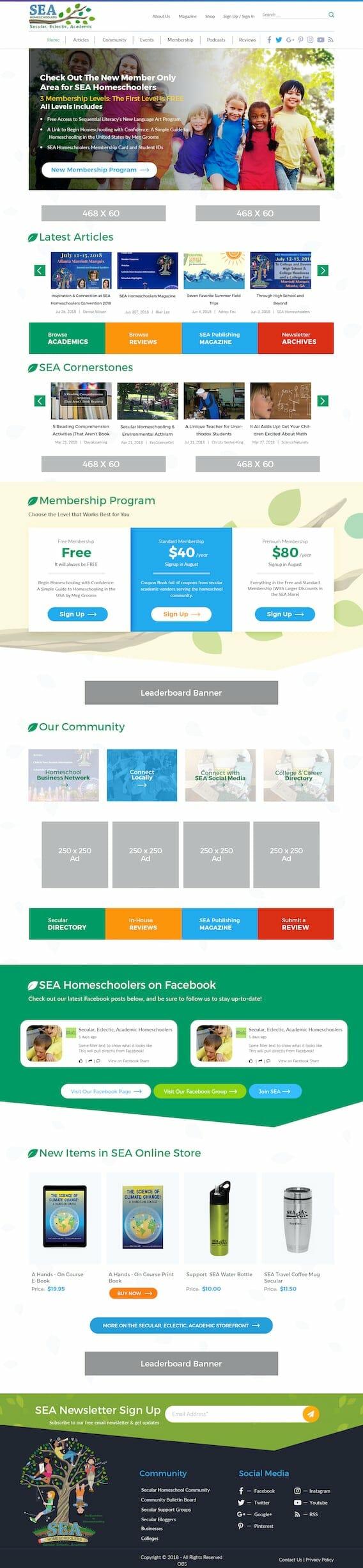 SEA Homeschoolers Homepage