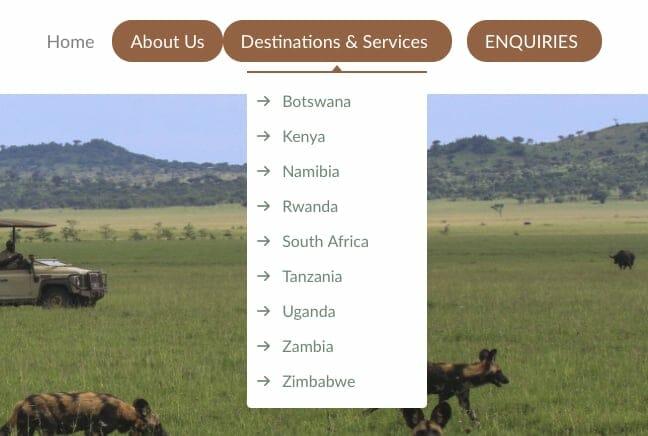 Schmitt & Hamrick Safaris Navigation