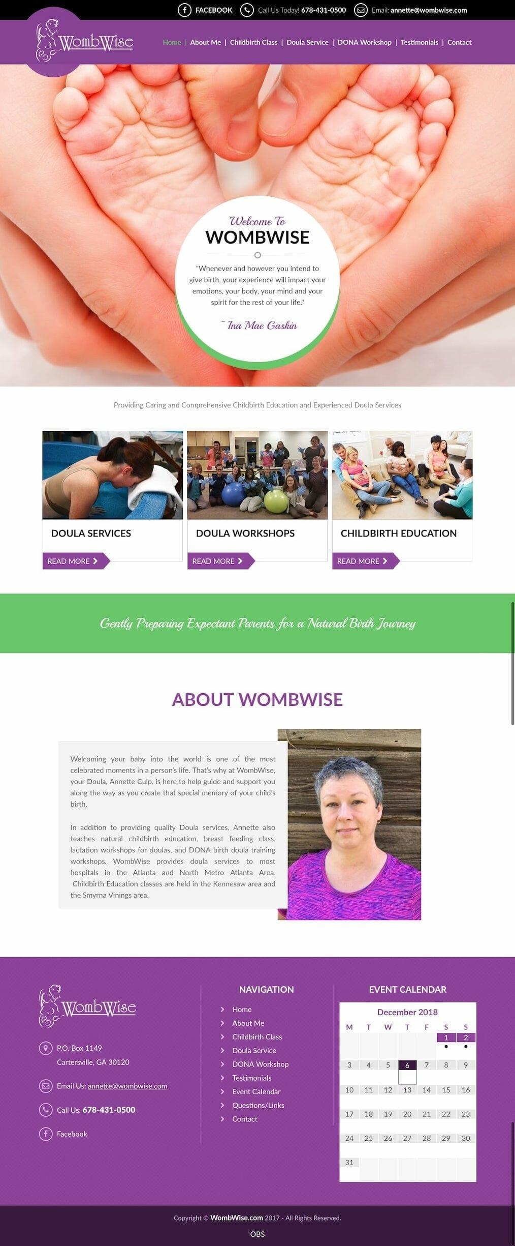 WombWise Homepage