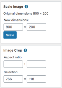 WordPress Scale and Crop Image